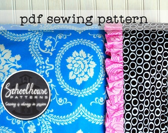 Pillowcase with ruffle sewing pattern - PDF INSTANT DOWNLOAD
