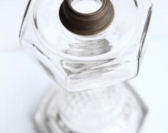 Findlay Clear Glass Kerosene Oil Lamp ~ Vintage Kerosene Lamps