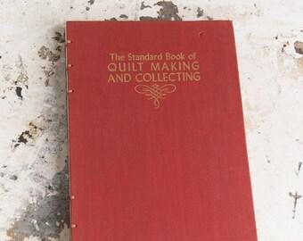 1949 QUILT MAKING Vintage Book Notebook