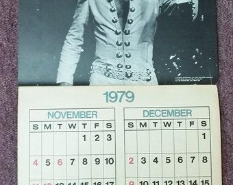 Vintage Elvis Calendar 1978-79 A Tribute to Elvis Authorized The King 1977 Boxcar 70's Music Entertainer Collectible Photo Ephemera