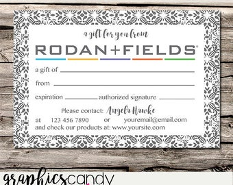 Rodan + Fields Independent Consultant Gift Certificate Design - Gift Certificates - Multi Level Marketing - MLM