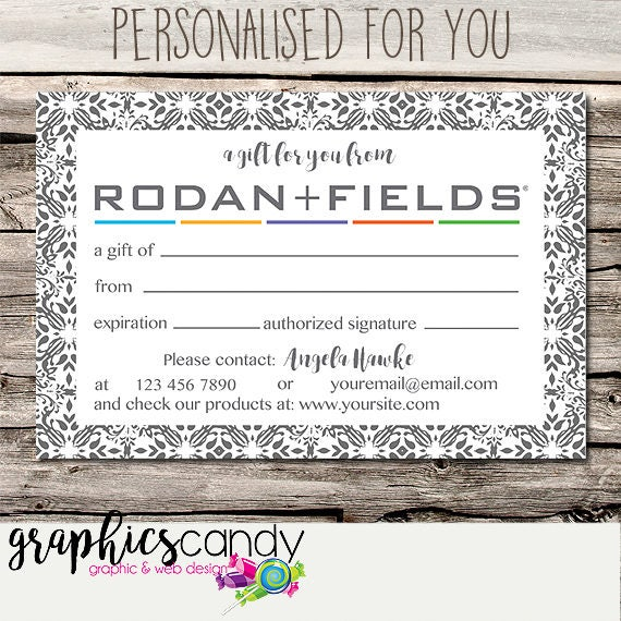 Rodan + Fields Independent Consultant Gift Certificate Design - Gift ...