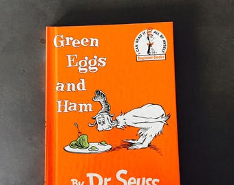 Green Eggs And Ham. Childrens Book, Dr. Seuss, Illustrated, Reprint 1988