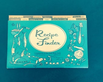 Recipe Finder, Recipe Keeper, The Cook Book Guild, Recipe Index Booklet