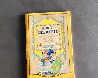 Knox Gelatine Dainty Desserts Candies Salads Recipes, Soft Cover 1929, Advertising