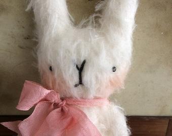 Sweet little Ada mohair Easter bunny rabbit.