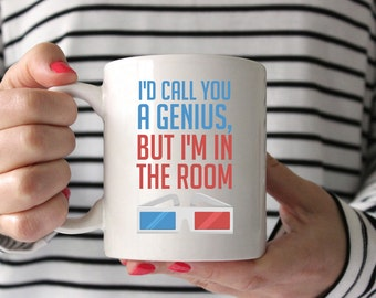 I'd Call You a Genius, But I'm in the Room | Doctor Who | 10th Doctor | David Tennant | TARDIS | Coffee Mug