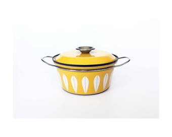 Vintage Cathrineholm Enamel Dutch Oven Pot