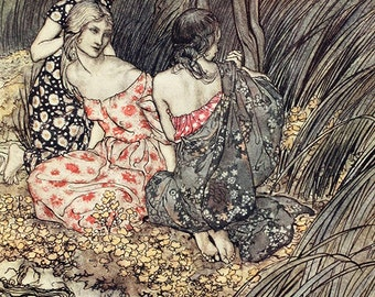 Naiades,  Arthur Rackham, Vinatge Art Print