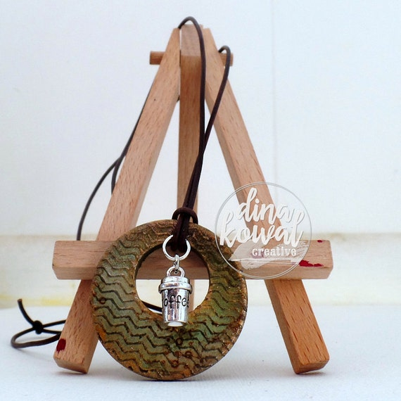 Coffee wood pendant