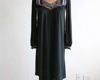 Young Edwardian Black Boho Dress