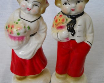 Dutch Boy and Girl - vintage, collectible, Dutch