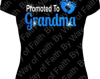 PROMOTED TO GRANDMA Vinyl T-Shirt, Glam-ma, I'm the Grandma, Gifts For Her, Women Tee, Nana, Mimi, Gigi, Custom Tee