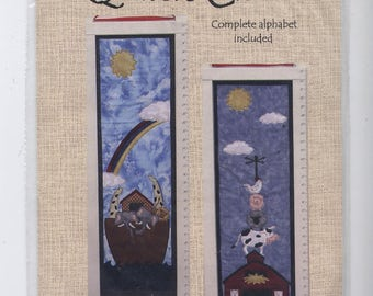 Noah's Ride AND Farmyard Fun - Growth Chart Applique & Quilted Wall Hanging Patterns - UNCUT - Q006