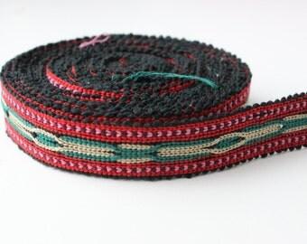 Uzbek handwoven cotton trim Jiyak. Ethnic Boho, Tribal, Hippy trim