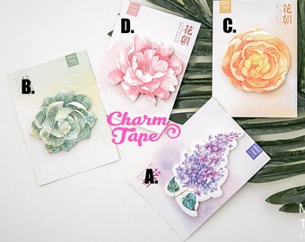 Flowers - Sticky Post-It Memo Note Pad 30 sheets ss552