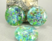 Garden Party Trio -  Lampwork Glass Cabochon Set - Jewelry Making Supply - 18mm