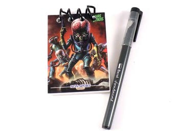 Mars Attacks Topps Non-Sports Card Update Upcycled Trading Card Book Notebook