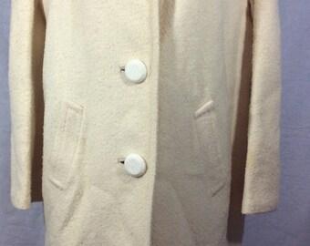 White Winter Duster Coat