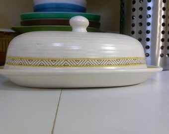 Vintage Franciscan Covered Butter Dish Earthernware Hacienda Gold 1970's The California Craftsman since 1875 Oven Safe