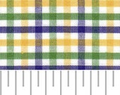 Fabric Finders Purple, Green, and Gold Tri-Check Cotton Fabric
