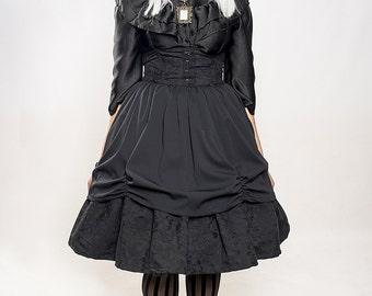 Gothic Lolita Two fabrics Skirt, Goth Skirt, Steampunk Lolita, Vampire Skirt, Casual Lolita, Otome,