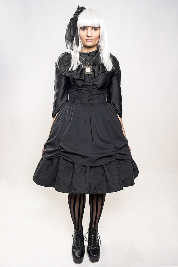 Gothic Lolita Two fabrics Skirt