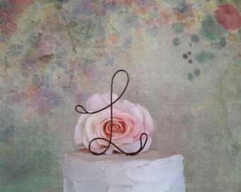 Initial Wedding Cake Topper, Custom Rustic Wedding Cake Topper, Shabby Chic Cake Decoration, Monogram Cake Topper, Initials Cake Topper