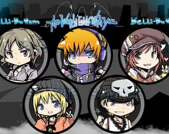 The World Ends With You Button set (5)
