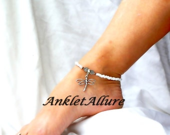 Simple Dragonfly Anklet Silver Ankle Bracelet Body Jewelry Foot Jewelry