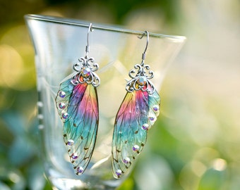 Sprite Fairy Wing Silver earrings
