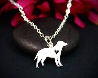 Labrador Retriever Necklace Sterling Silver | Labrador Retriever Jewelry | Labrador Silhouette Necklace | Lab Necklace | Lab Jewelry