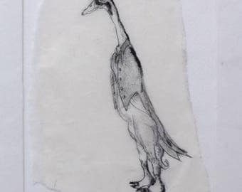 Duck Butler - Original Monoprint - OOAK