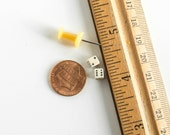 Vintage Miniature Dice 5 mm Mini Jewelry Found Object Supply