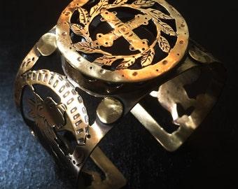 Byzantine style cuff bracelet