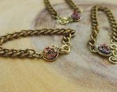 Sunburst Gold Chain Bracelet