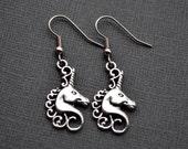 Silver Unicorns . Earrings