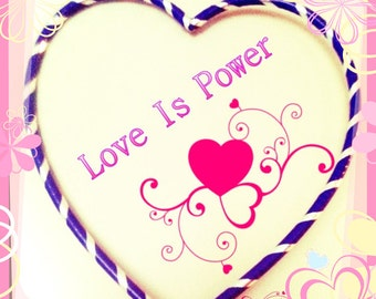 FLASH SALE Heart Shaped Hoop Love Is Power Heart Hula Hoop Spread Love
