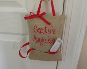 Santa's Magic Key Door Hanger Door Decoration Christmas Door Decoration