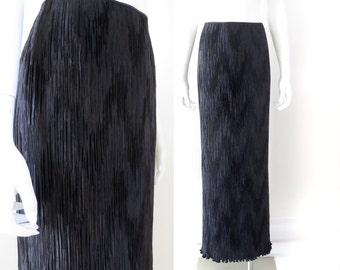 SALE - 1980s Mary McFadden Chevron Pleat Skirt - 50% OFF