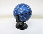 Vintage Mini Globe, Celestial Globe, Horoscope Gift, Hammond Swivel and Tilt Globe