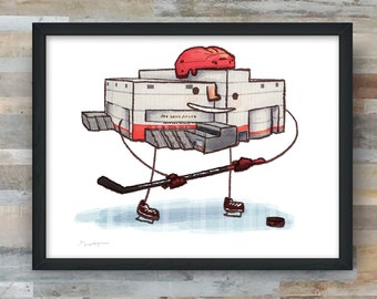 "Detroit ""The Joe"" hockey art print"