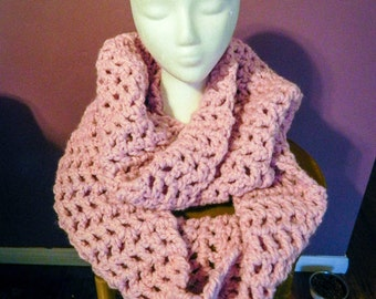 Super Chunky Cowl Scarf - Pink