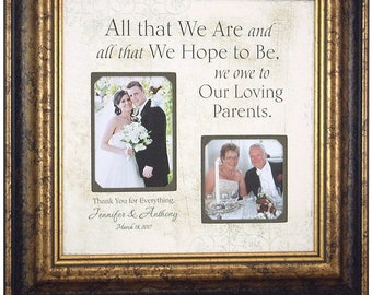 Parents Personalized Wedding Thank You Gift, Personalized Wedding Sign for Parents, All That We Are, 16 X 16