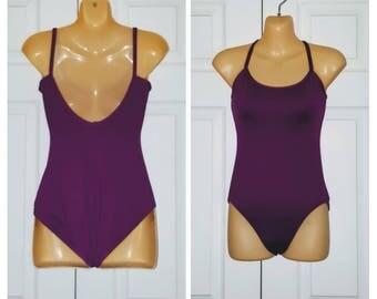 Let's Dance .. Vintage 80s 90s leotard / 1980s tank bodysuit 1990s / exercise gym workout / fonda aerobics .. XS S