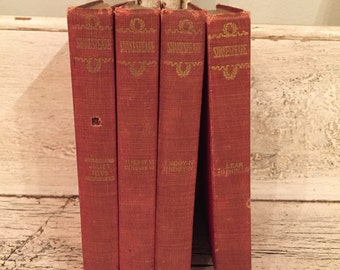 Shakespeare Instant Mini Library - Small Vintage Rustic Book Stack - 1898