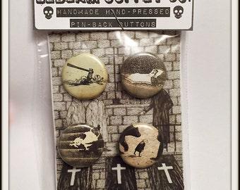 """Gorey Children - 1"""" Button Set"""