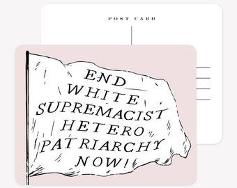 Set of 3 Postcards - End Patriarchy