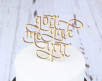god gave me you Cake Topper Wedding Cake Topper Bridal Shower Cake Topper Baby Shower Cake Topper