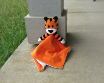 Hobbes Tiger Lovey Security Blanket - Made to Order
